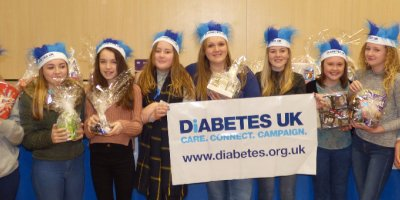 Huge amount rasied for Diabetes UK - Wear Blue Fundraiser Day